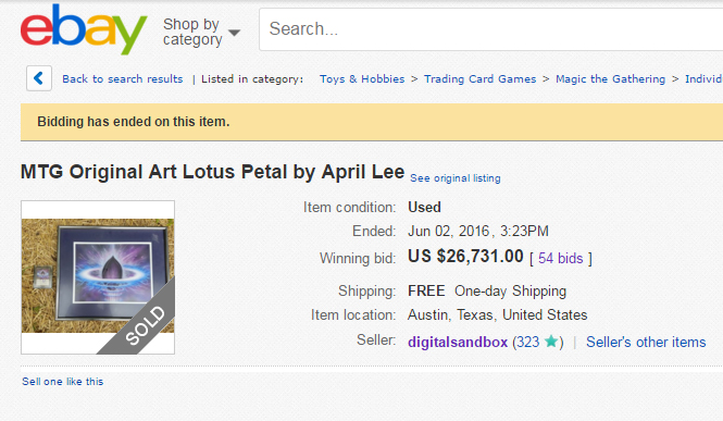 Lotus Petal Ebay Auction